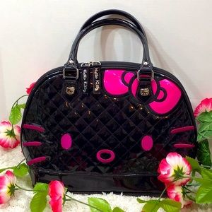 Loungefly Hello Kitty large patent dome bag